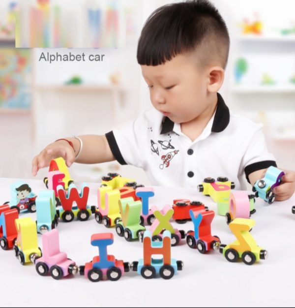 Magnetic Wooden ABC Train