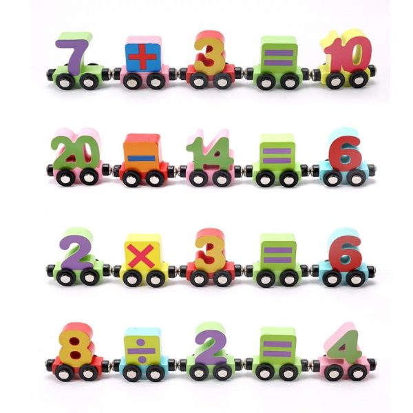 Wooden Magnetic 123 Train